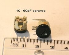 VARIABLE CERAMIC TRIMMER CAPACITORS HORIZONTAL MOUNTING 10~60p