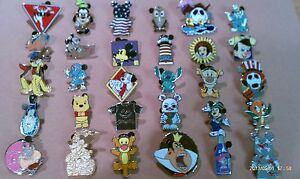 Disney Trading Pins-Lot of 25-No Duplicates-LE-HM-Rack-Cast-Free Shipping