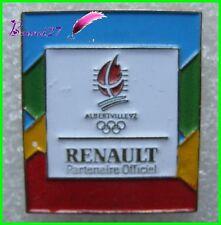 Pin's Jo Jeux Olympique Albertville RENAULT Partenaire Officiel 1 #B4