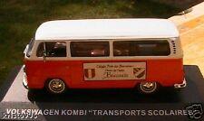 VW VOLKSWAGEN KOMBI TRANSPORTS SCOLAIRES 1/43 BEAUVALS