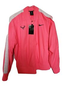 Nike Rafa Court Mens Pink Tennis Jacket October Breast Cancer Awareness Month🎀
