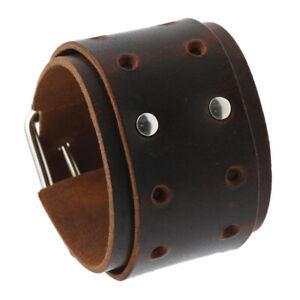 Men Women Wide Leather Braided Bracelet Bangle Wristband Adjustable Cuff Jewelry