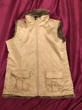Kids Children Girls GAP Reversible Faux Fur Body warmer Waist Coat Size 13XL