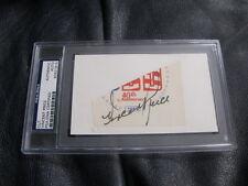 Vincent Price Autographed Postcard PSA Encapsulted Authenticated