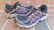 Asics Gel Trabuco 14 Trail Running Shoes Womens T1D6N 8.5 Black Purple