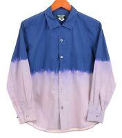 Comme Des Garcons Homme Plus Ever Green JAPAN Blue Ombre Dyed Button Up Shirt S