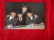 BEATLES~POST CARD~ SITTING AROUND~ RARE~ NOT USED~  1989 ~COLLECTABLES