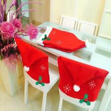 Christmas Santa Dining Chair Back Covers Party Xmas Table Decoration#