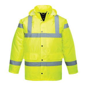 XXXXXXXL High Visibility Hi Vis Road Safety Traffic Waterproof RAIN Parka Jacket