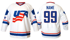 Team USA 2011 white Ice Hockey Jersey Custom Name and Number