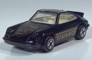 """Corgi Porsche Carrera Turbo 3"""" Die Cast Scale Model Black White Interior"""