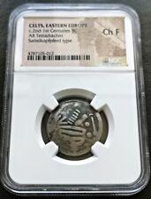 Greece NGC Eastern Celts Silver Tetradrachm Sattelkopfpferd 100 BC Philip II