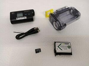 Sony HDR-AS15 Full HD 1080p Action Camera Bundle W/ Housing, 16GB SD, USB Tested