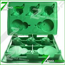 STAR WARS SILICONE ICE CUBE MOLD TRAY JEDI YODA & BB8