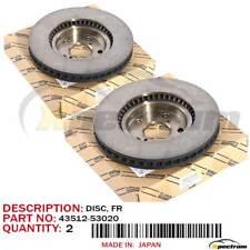 LEXUS GS300/430 SC430 FACTORY OEM 43512-53020 FRONT (LH+RH) BRAKE ROTOR DISC SET