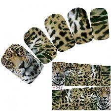 Tattoo Nail Art Aufkleber Glitzer Löwe Leopard Lion Nagel Sticker Neu!