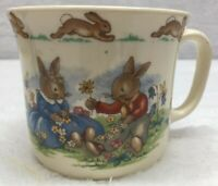 Royal Doulton Tablewear Bunnykins Fine Bone China Coffee Tea Mug Flowers Couple