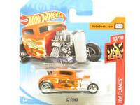 Hotwheels 32 Ford HW Flames 129/365 Early Times Short Card 1 64 Scale Sealed New