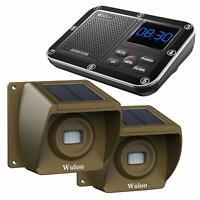 Wireless Solar Driveway Alarm System 1/3 Mile Long Range Rechargeable Sensors