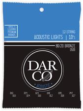 JEU DE CORDES GUITARE ACOUSTIQUE 12 cordes DARCO D500 - LIGHT 10-47 BRONZE