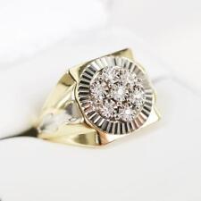14K Yellow Gold FN Round Diamond Men's Engagement Wedding Band Pinky Ring D/VVS1