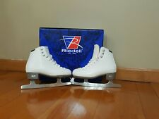 Riedell Ice Skates: Girls 3,19, Luna. White: Excellent Condition! *Free Ship