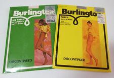 Vintage 70s Burlington Sheer Panty Hose Medium 2 pkgs Dove Grey Pink Pantyhose
