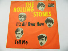 """The Rolling Stones – It's All Over Now / Tell Me - DL 25144   –  - 7"""" Single"""