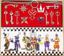 13pcs/ Kingdom Hearts II KEY BLADE Necklace Pendant+Keyblade+Keychain Silver New