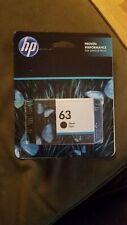 NEW HP #63 Original Black Ink Cartridge   EXP JAN 2022