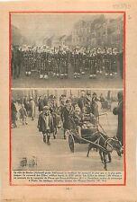 Carnaval de Binche Hainaut les Gilles Belgique/ Champs-Elysées 1930 ILLUSTRATION