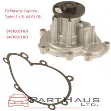Engine Water Pump + Gasket Fit Porsche Cayenne Turbo S 4.5L V8 03-06