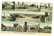 Eleven Leading View of St Augustine Florida FL Postcard