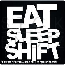 EAT SLEEP SHIRT REPEAT JDM FUNNY DECAL STICKER MACBOOK CAR WINDOW MOTORCYCLE