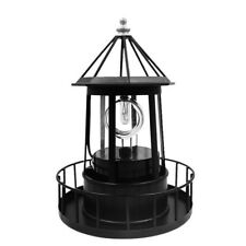 Lighthouse Solar LED Light Garden Outdoor Rotating Beam Sensor Beacon Lamp Decor