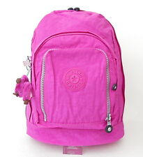 NWT Kipling Hiker Expandable Backpack With Furry Monkey Pink Orchid