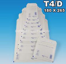 100 Enveloppes à bulles pochettes T4/4/D blanches (DVD) 175 x 265 mm
