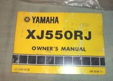 Original Yamaha XJ550RJ Seca OWNER'S MANUAL/WIRING DIAG~LIT-11626-02-88 (#3859