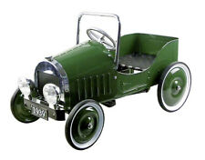 TRETAUTO grün Kinderauto nostalgisch Kinderfahrzeug Blech Metall Gummireifen NEU