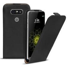 Funda con Tapa LG G5 Polipiel Plegable para Móvil Cover Schwarz
