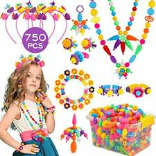 Pop Beads 750+PCS Jewelry Making Kit Toys for 3 4 5 6 7 8 Year Old Girls