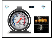 Chef Aid Metal Oven Thermometer 50 - 300 ℃ 600F Pizza Ovens Stainless Steel HanG