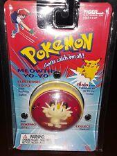 1999 Pokémon Meowth Electronic Yo-Yo Lights Sounds Tiger Nintendo New!