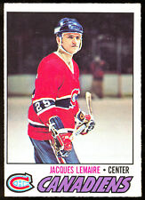 1977 78 OPC O PEE CHEE #254 JACQUES LEMAIRE NM MONTREAL CANADIENS HOCKEY CARD