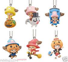 BANDAI One Piece Anime Halloween Chopper Luffy Keychain Figure (Set 6 pcs)