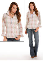Panhandle Slim Women's Dobby Aztec Print Snap Up Western Shirt 22S5862 SALE!!