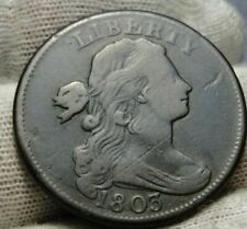 1803 Penny Draped Bust Cent 1 C - Nice Coin, Free Shipping (9401)