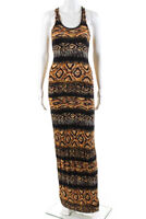 Torn by Ronny Kobo Womens Racerback Maxi Dress Brown Size Extra Small