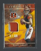 RYAN FINLEY  2019 Panini Origins #RP-6  ROOKIE PATCHES GOLD RC  01/10  Bengals