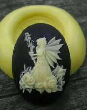 Fairy cameo silicone push mold mould polymer clay resin sugar craft USA SELLER